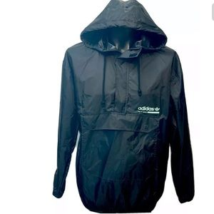 Adidas Windbreaker Pullover Jacket  Medium Black